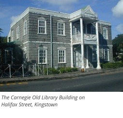 The Carnegie Old Library Building onHalifax Street, Kingstown